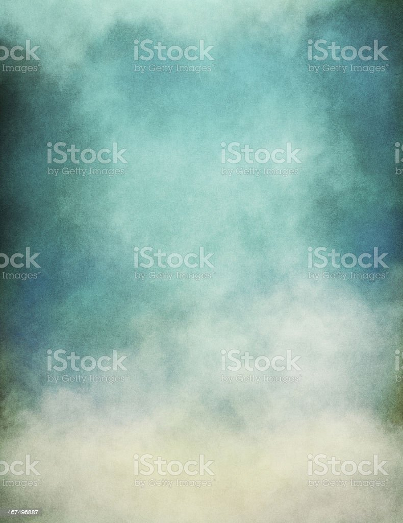 Blue Green Fog stock photo