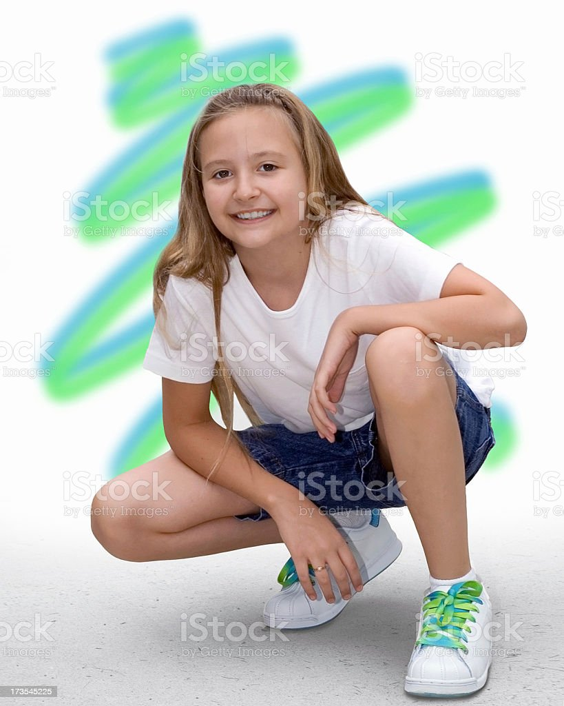 Blue Green Laces royalty-free stock photo