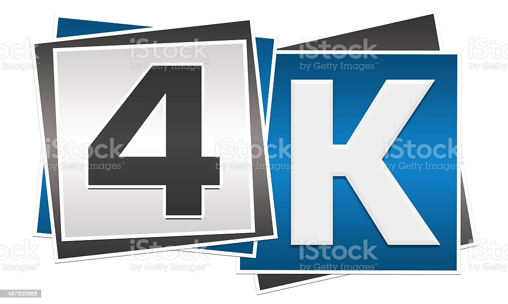 4K Blue Grey Blocks stock photo