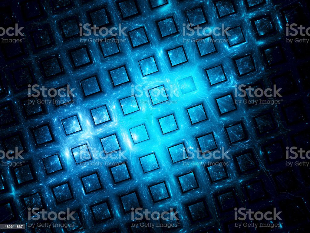 Blue grid in space royalty-free stock vector art
