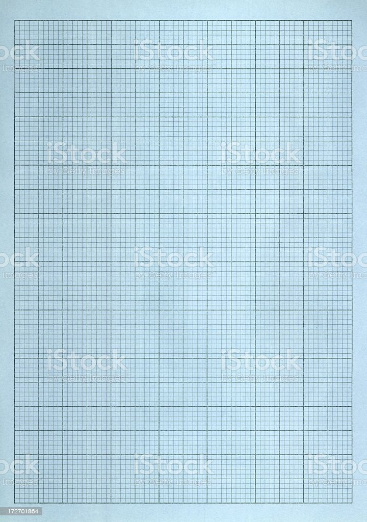 blue grid paper royalty-free stock photo
