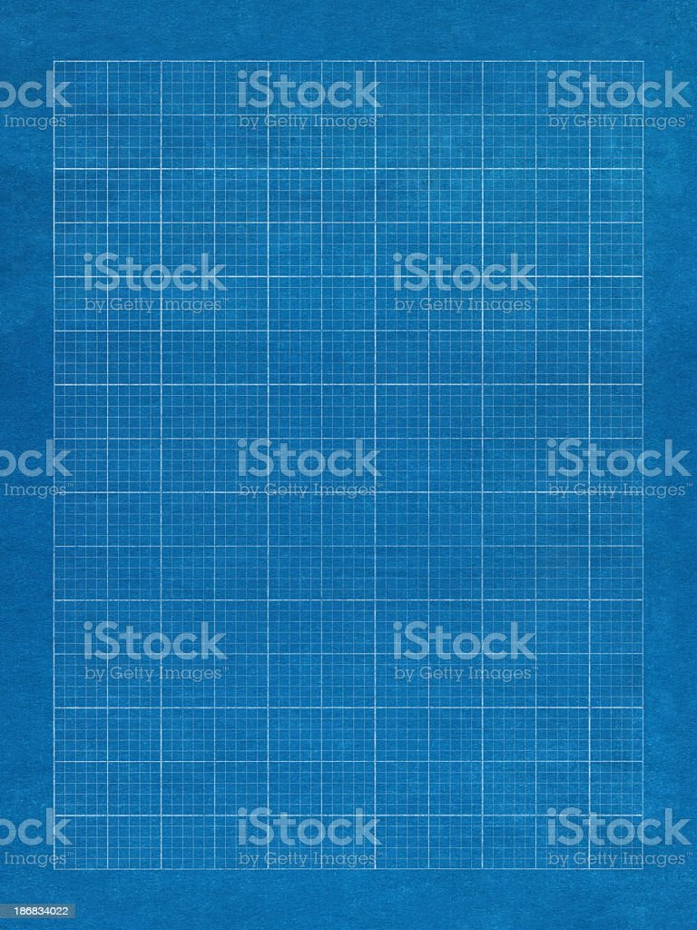 Blue grid paper with white lines royalty-free stock photo