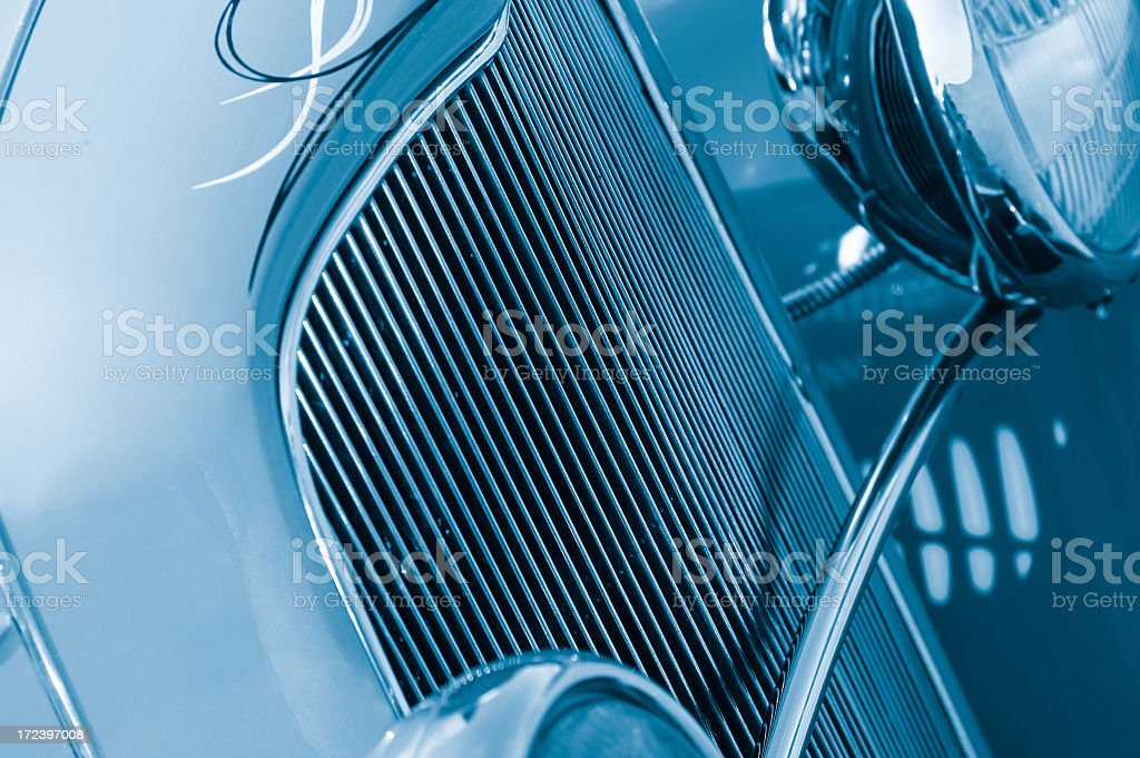 Blue grille #2 royalty-free stock photo