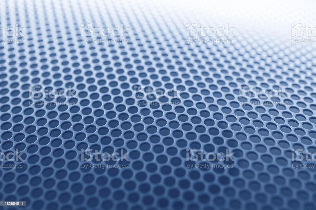 Blue grille texture stock photo