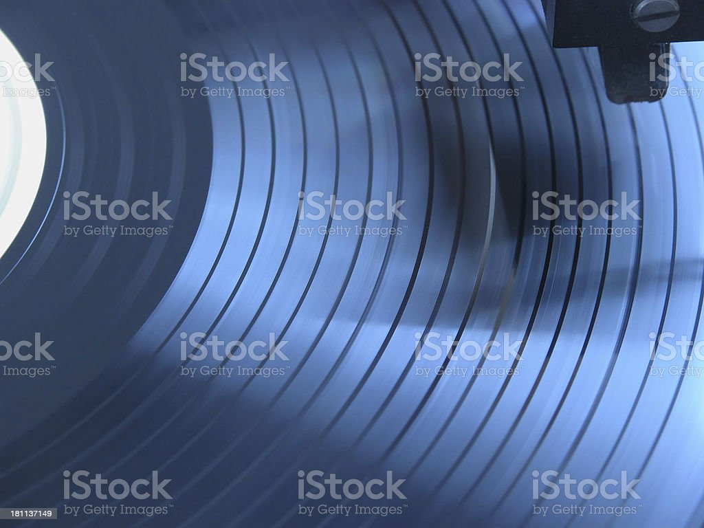Blue Grooves royalty-free stock photo