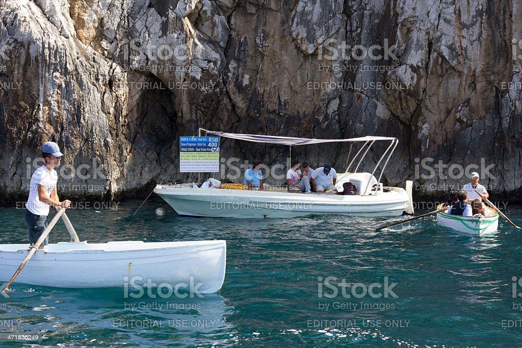 Blue Grotto in Capri, Italy royalty-free stock photo