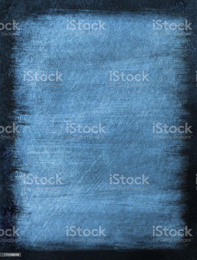 Blue Grunge Background with Black Border stock photo