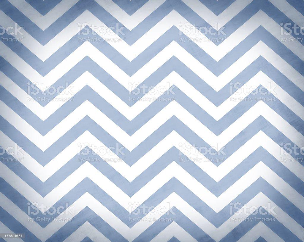 Blue Grunge Textured Chevron Background stock photo