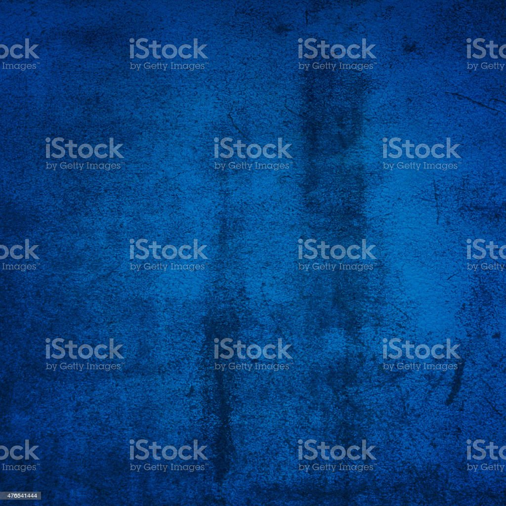 Blue grunge wall stock photo