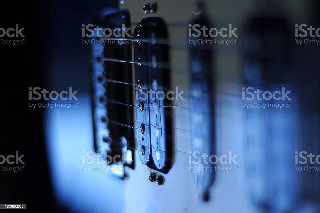 blue guitar stock photo