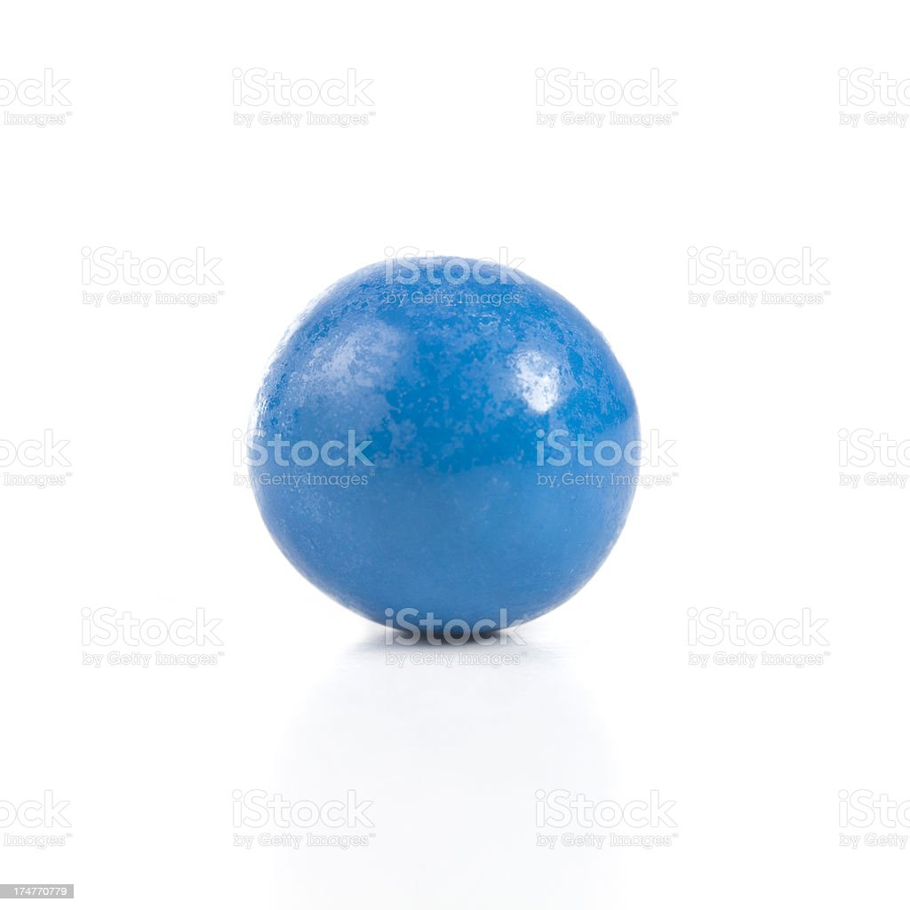 Blue gumball stock photo
