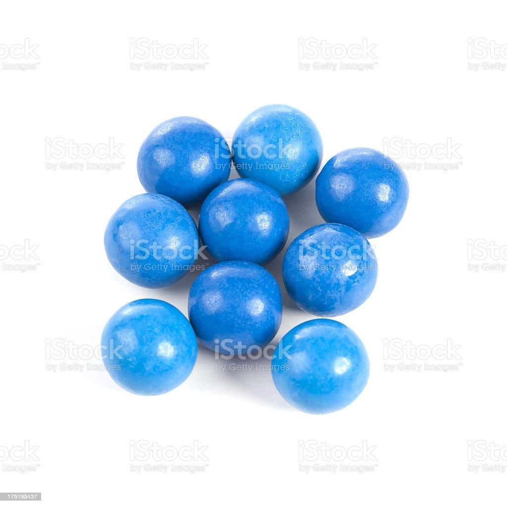 Blue gumballs royalty-free stock photo