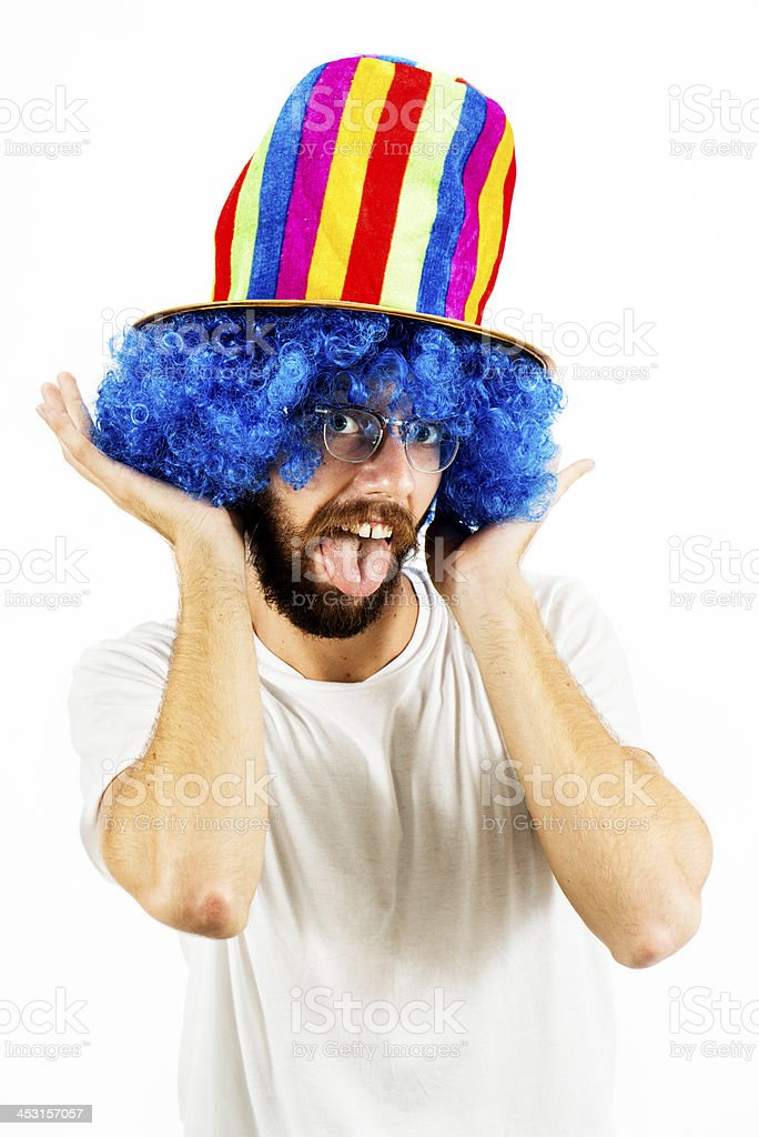 Blue Hair Expression stock photo