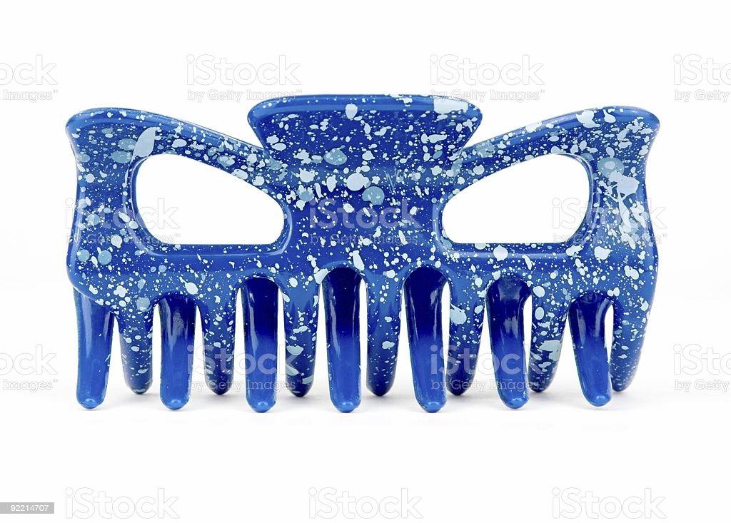 Blue Hair Grip royalty-free stock photo