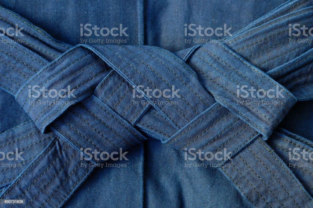blue hakama stock photo