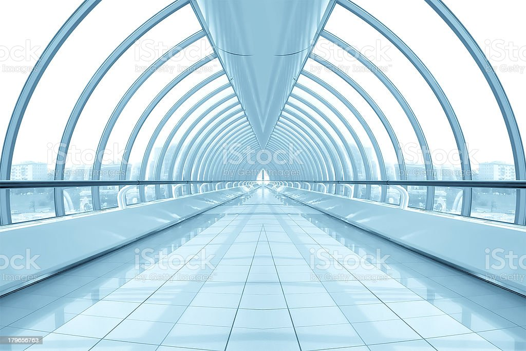 blue hall of business center royalty-free stock photo