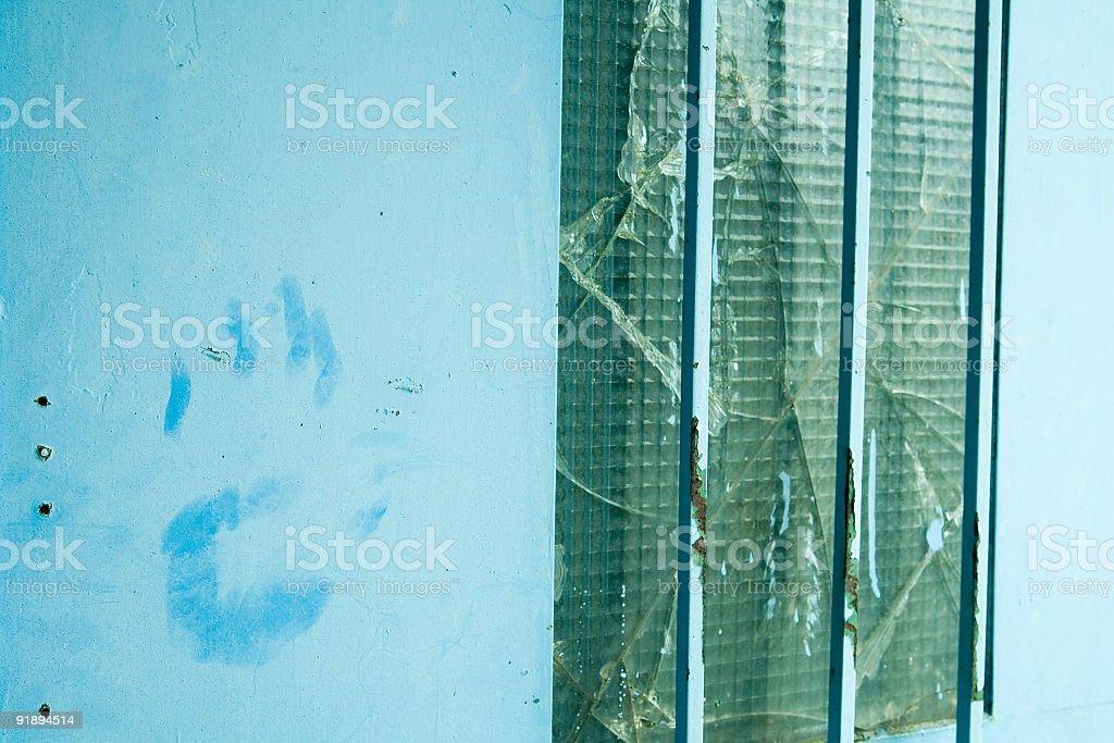 blue hand royalty-free stock photo
