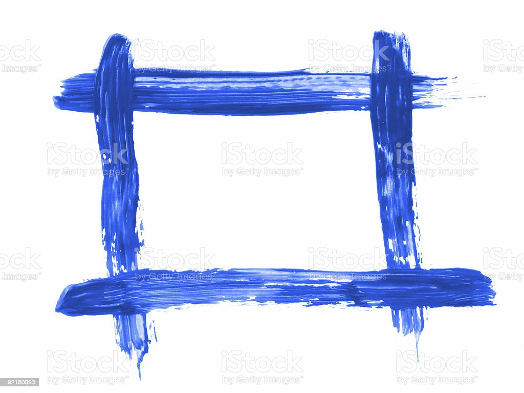 blue handpainted frame royalty-free stock photo