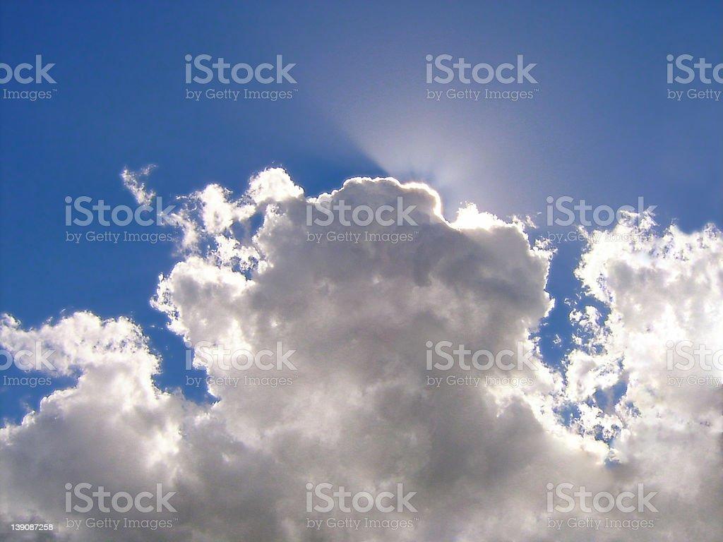 Blue happy sky royalty-free stock photo