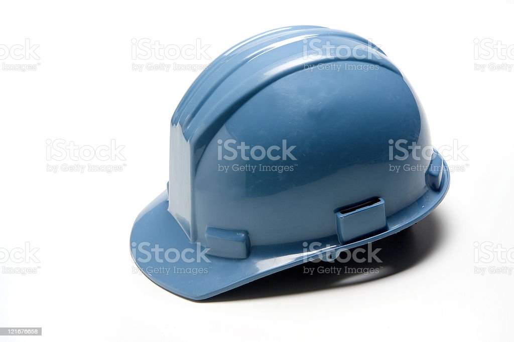 Blue Hard Hat royalty-free stock photo