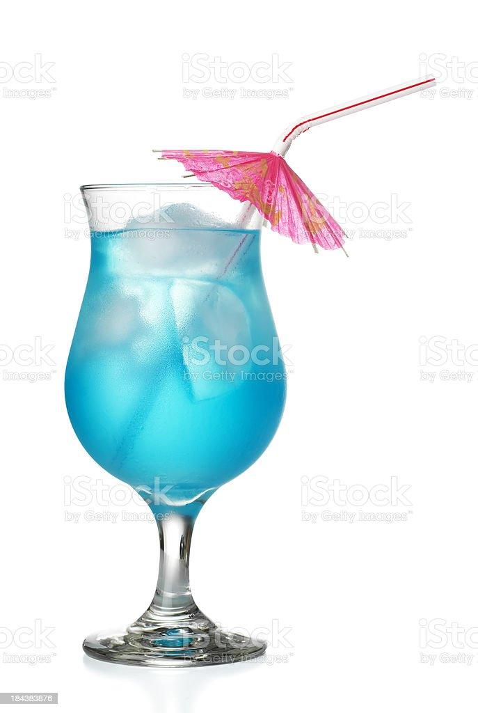 Blue Hawaiian Coctail stock photo