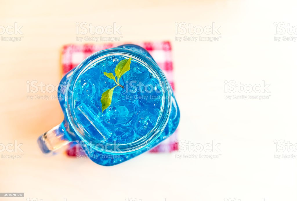 Blue Hawaiian Coctail stock photo