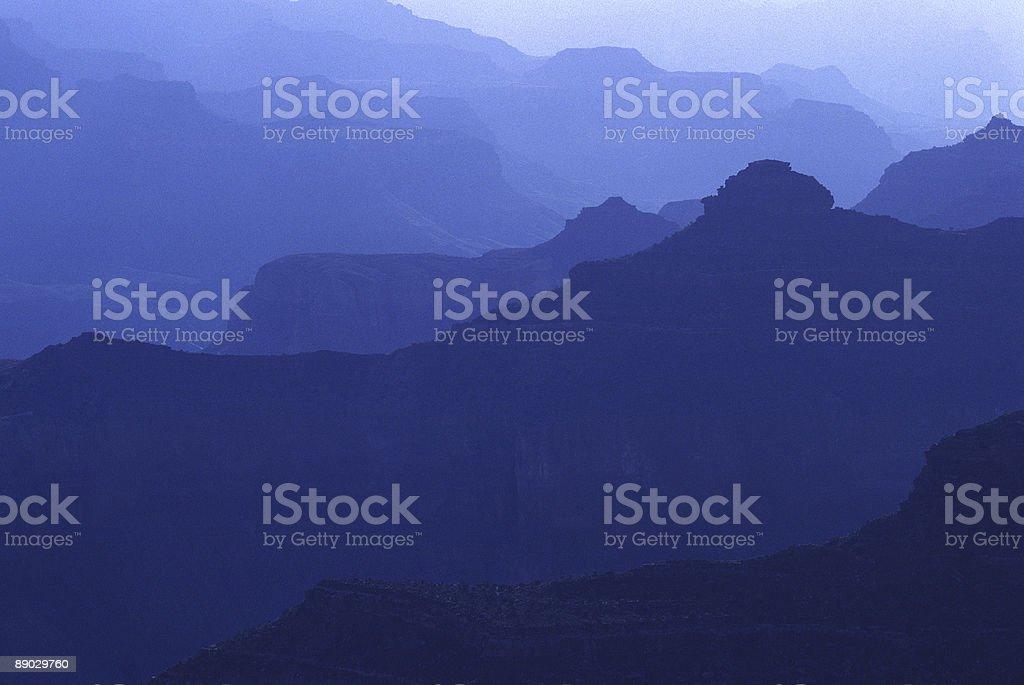 Blue Haze at Sunrise, Grand Canyon stock photo