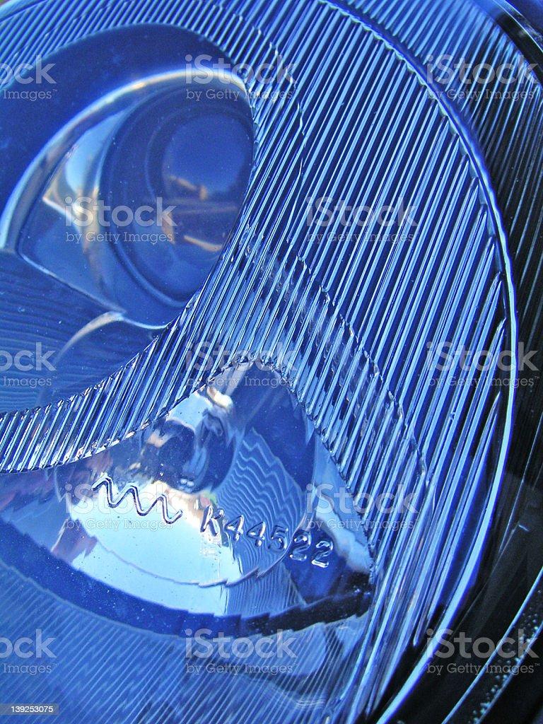 blue headlight royalty-free stock photo