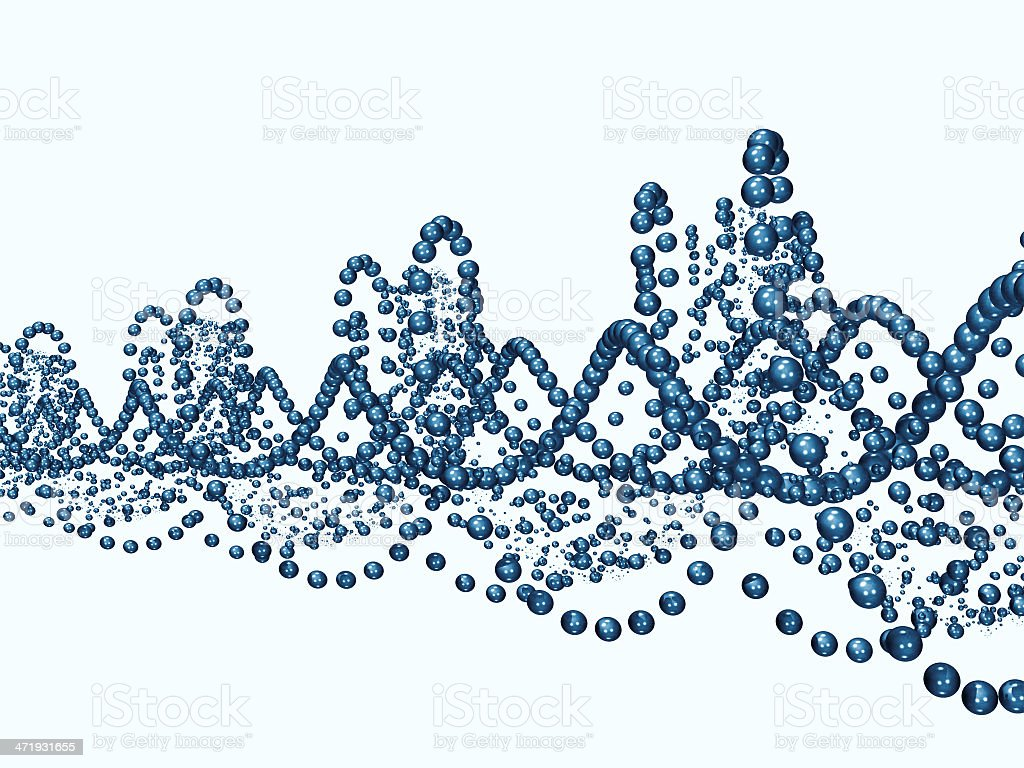 Blue Helix stock photo
