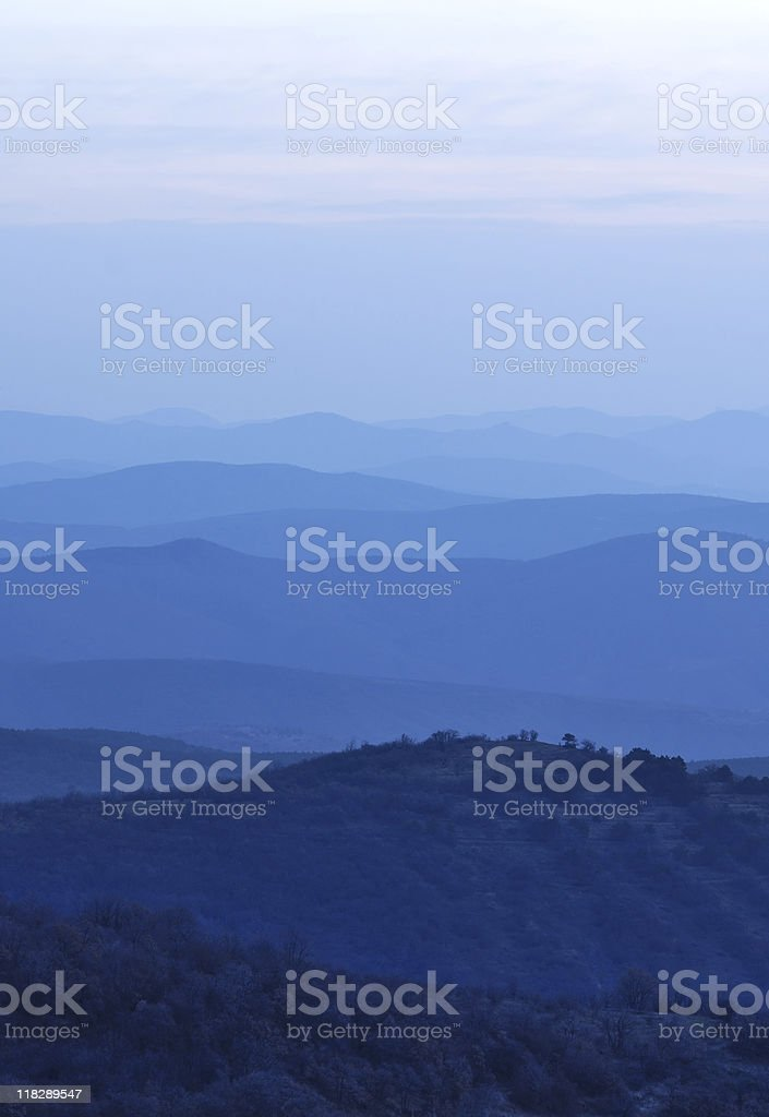 Blue hills royalty-free stock photo