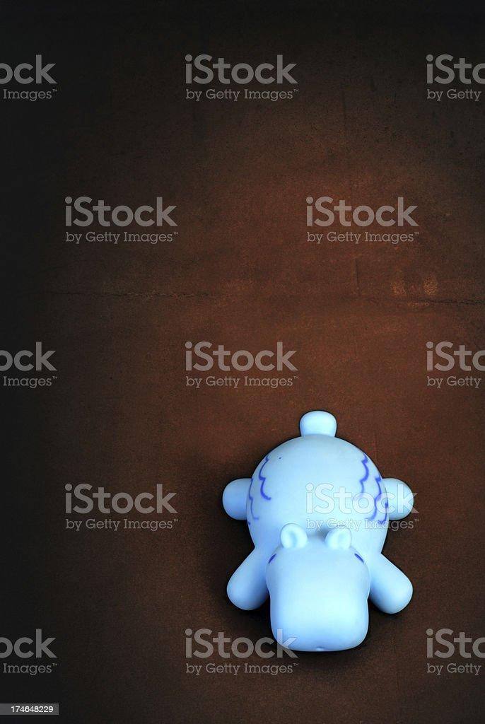 Blue Hippo stock photo