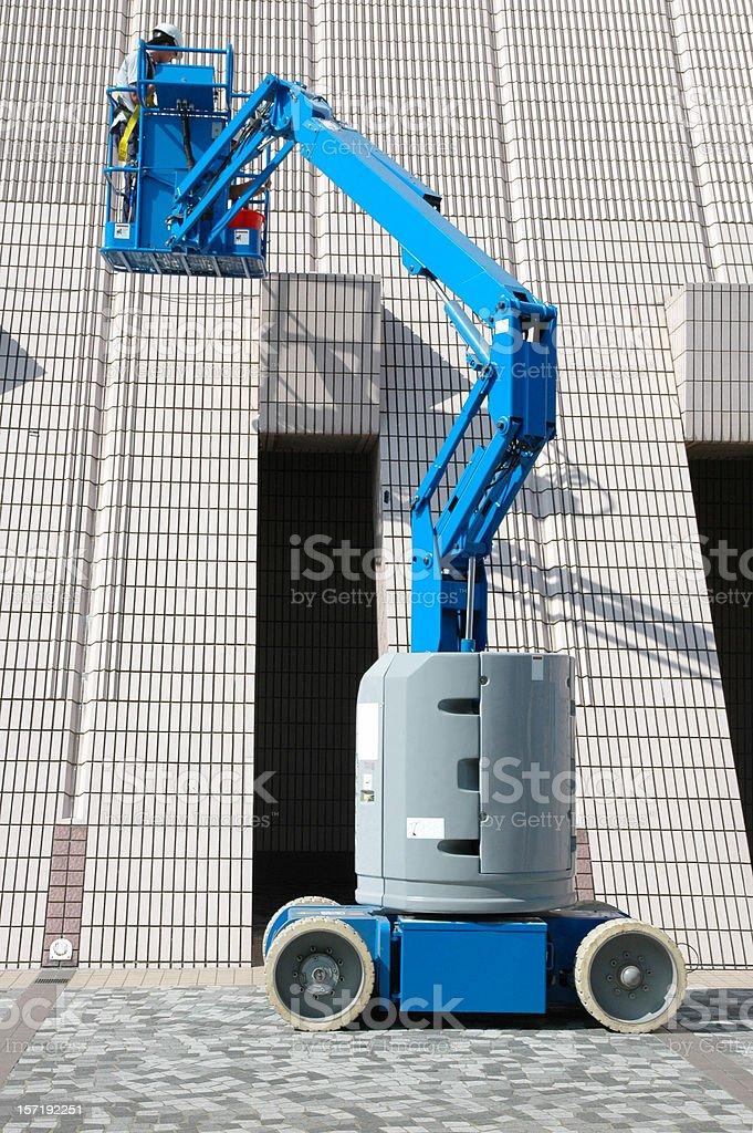 Blue Hoister stock photo