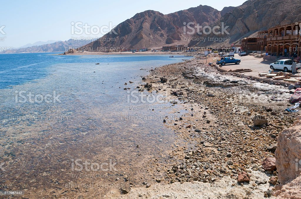 Blue Hole diving location in Sinai, Egypt stock photo