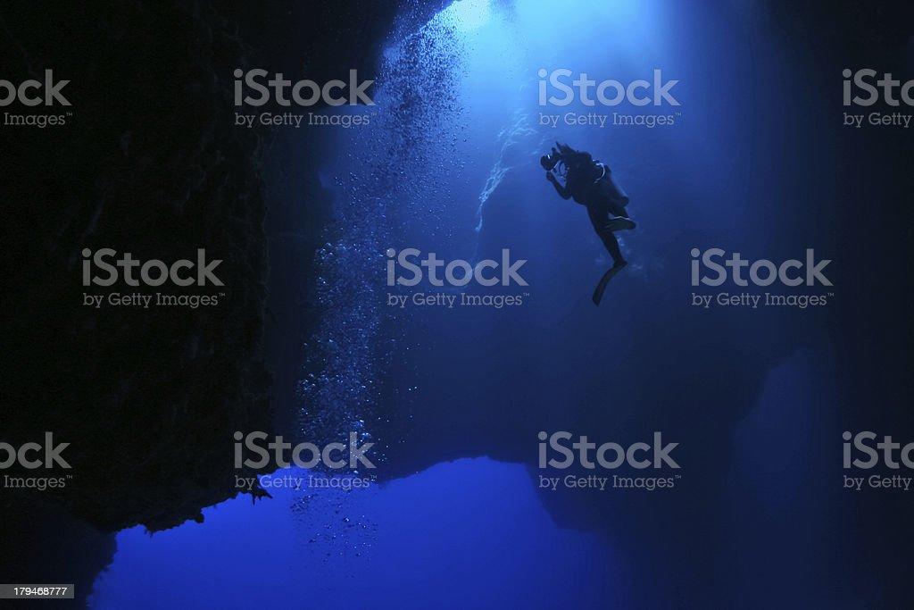 Blue Hole - Palau, Micronesia stock photo