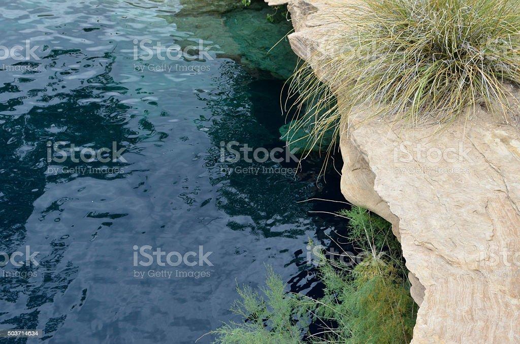 Blue Hole Santa Rosa New Mexico stock photo