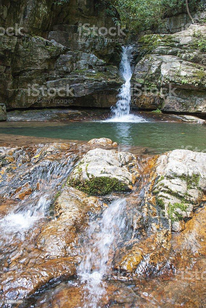 Blue Hole Waterfall stock photo