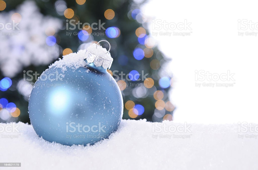 Blue Holiday Ornament royalty-free stock photo