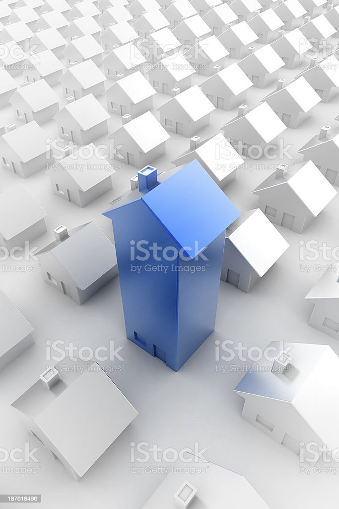 Blue Home royalty-free stock photo