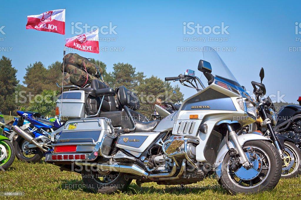 Blue Honda Goldwing royalty-free stock photo