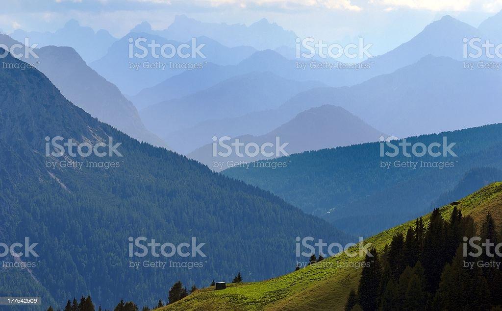 blue horizons, Dolomites, Italie photo libre de droits