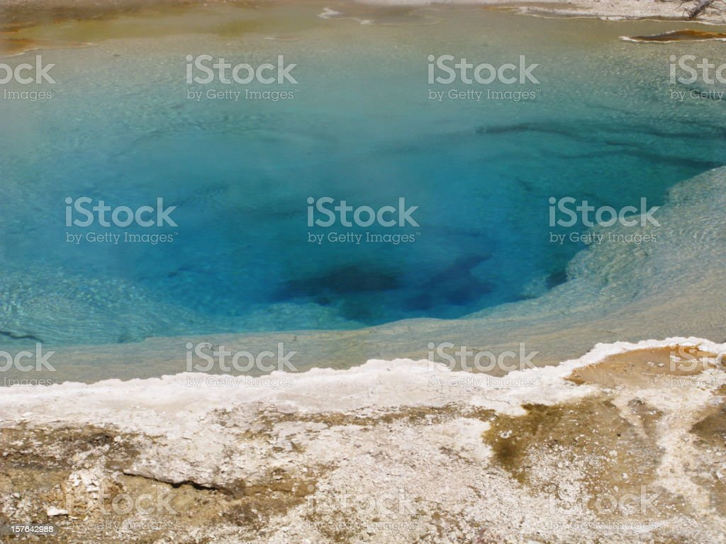 Blue Hot Spring Volanic Yellowstone National Park royalty-free stock photo