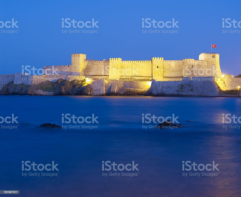 Blue hour at the castle long exposure stock photo