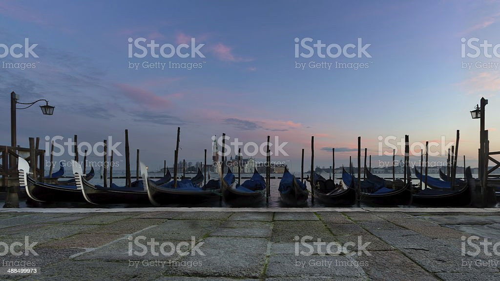 Blue hour on St mar place royalty-free stock photo