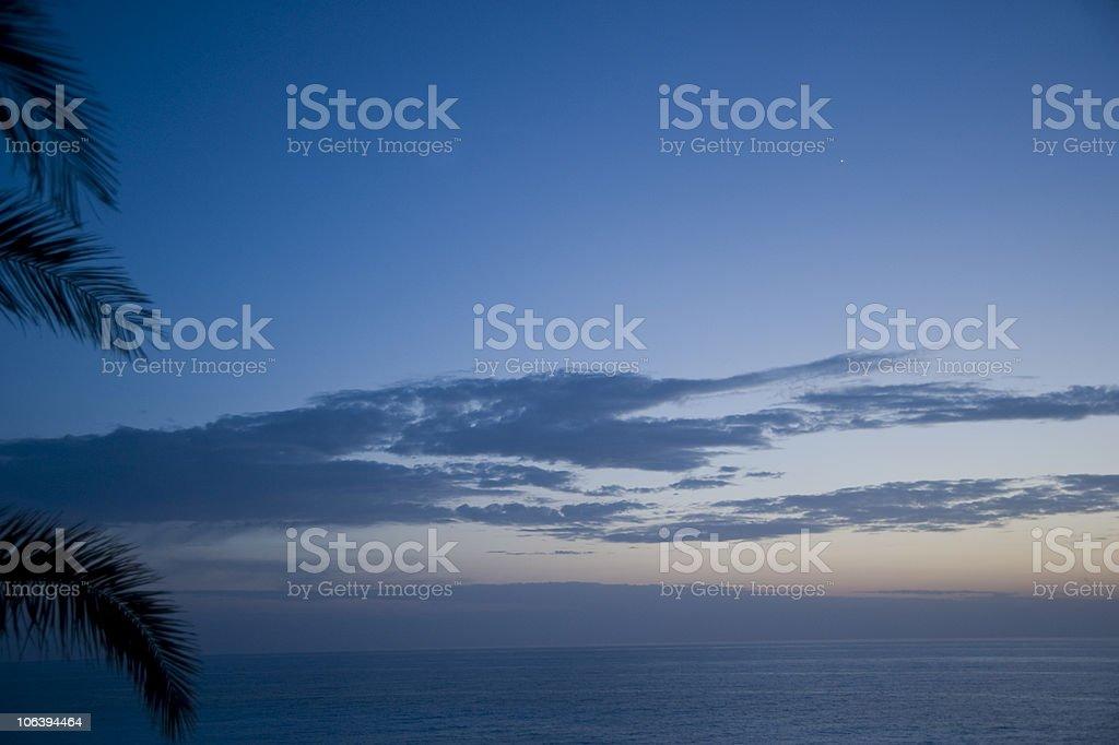 blue hour stock photo