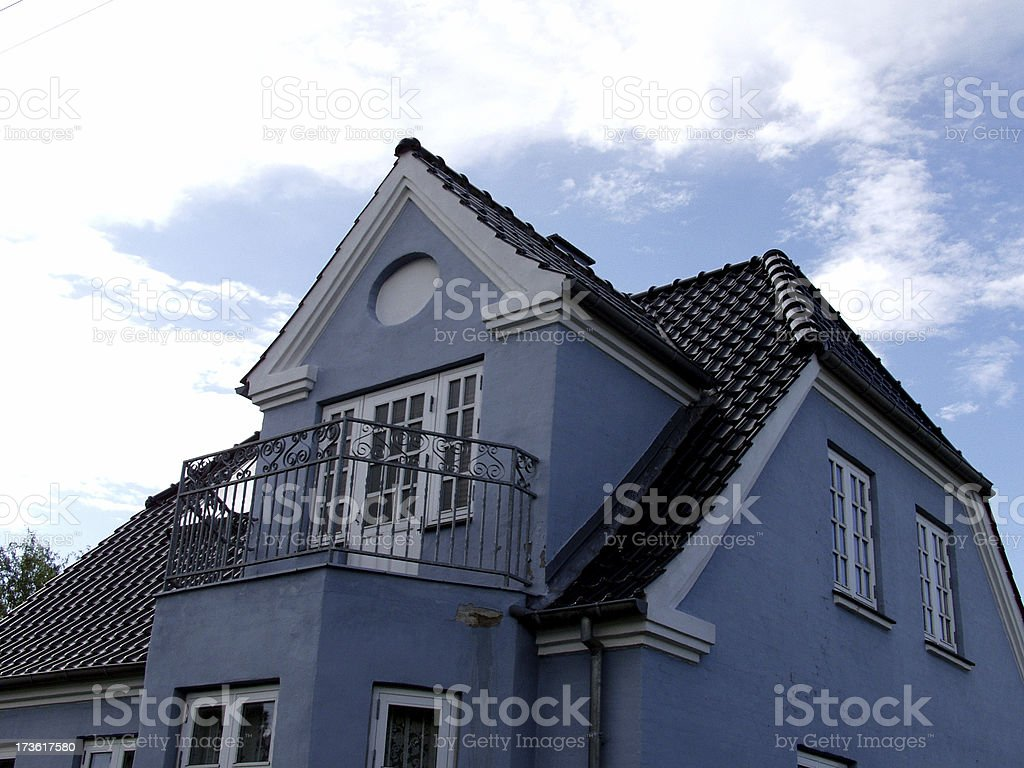 Blue House royalty-free stock photo