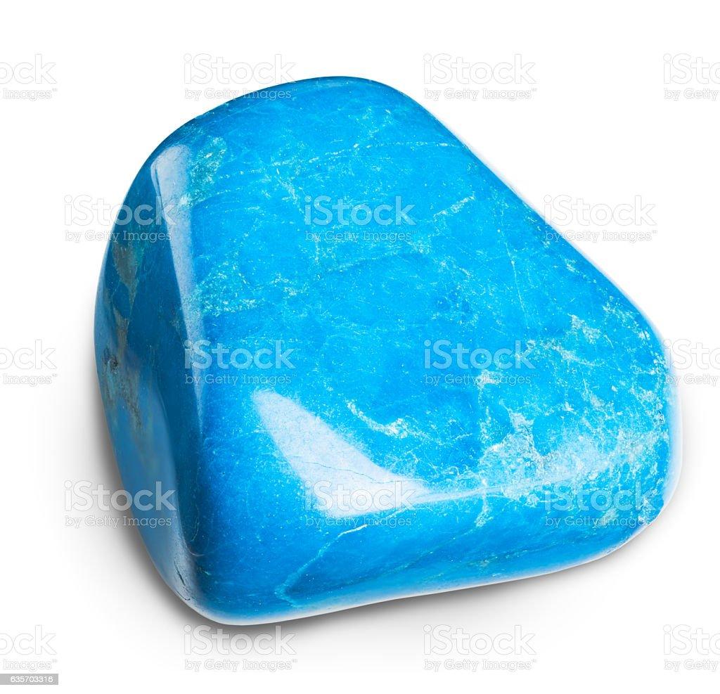 Blue howlite stone stock photo