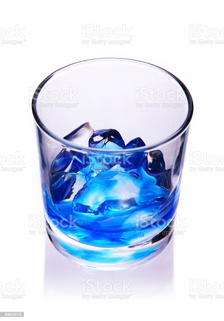 Blue hypnotic drink. royalty-free stock photo