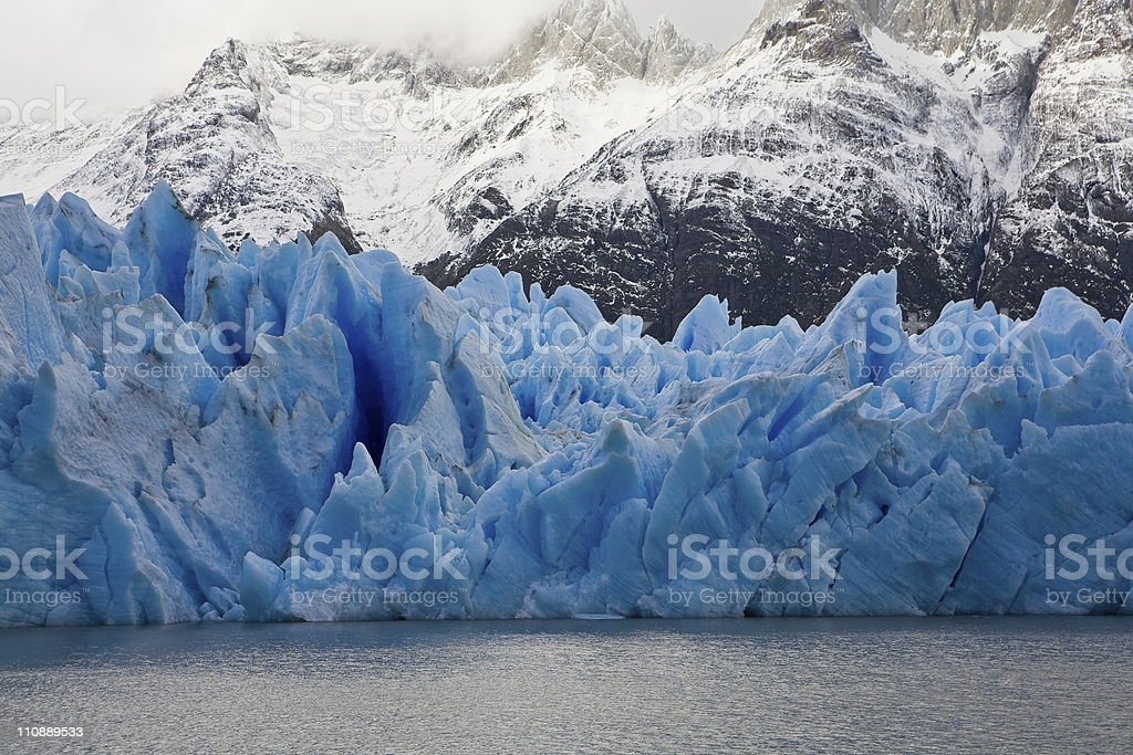 Blue Ice at Grey Glacier royalty-free stock photo