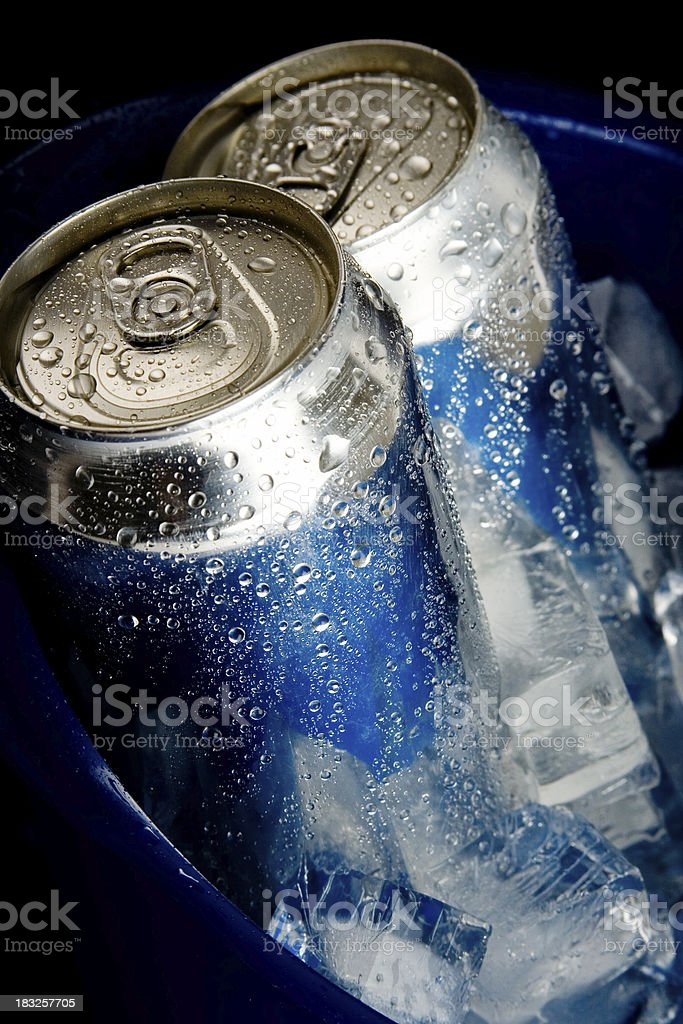 Blue Ice Beer royalty-free stock photo