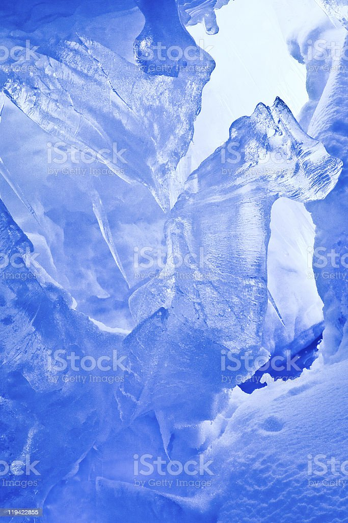 Blue Ice cave royalty-free stock photo